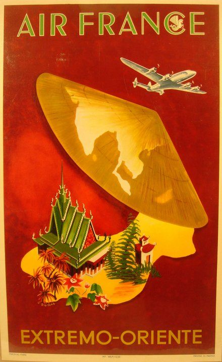 Air France, Extremo Oriente - Free vintage posters