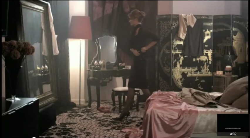 Bedroom from Agent Provocateur campaign. Rosie