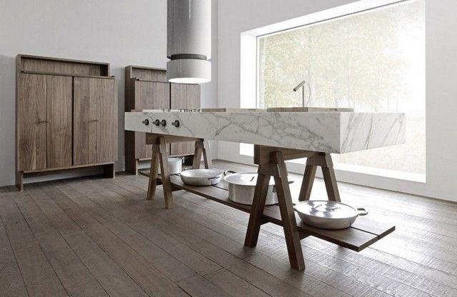 Meubles de cuisine modulables Convivio par Enzo Berti compact