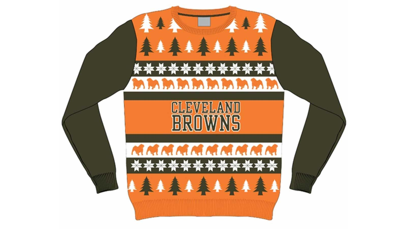 Cleveland Browns Christmas Sweater.It S Not Too Early To Get Your Cleveland Browns Ugly