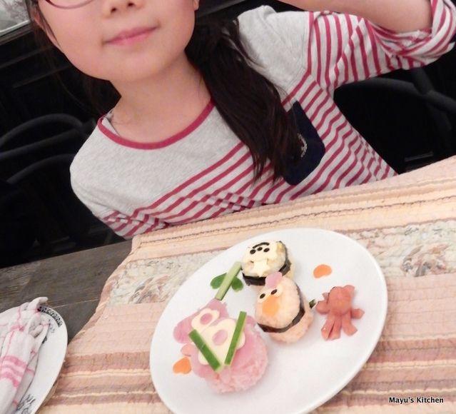 kids birthday sushi party kid loves deco cute sushi 女の子の誕生