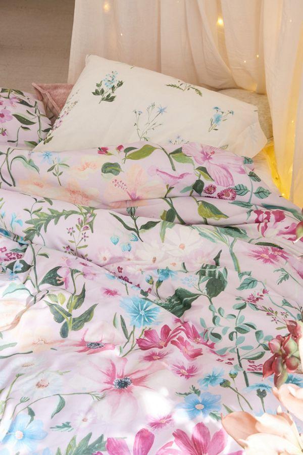 Laurel Floral Duvet Cover With Images Floral Duvet