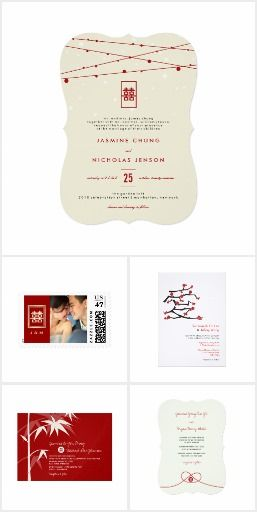 Asian Oriental Chinese Themed Wedding Cards Card Ideas