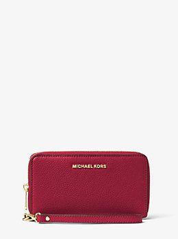 Mercer Large Leather Smartphone Wristlet by Michael Kors