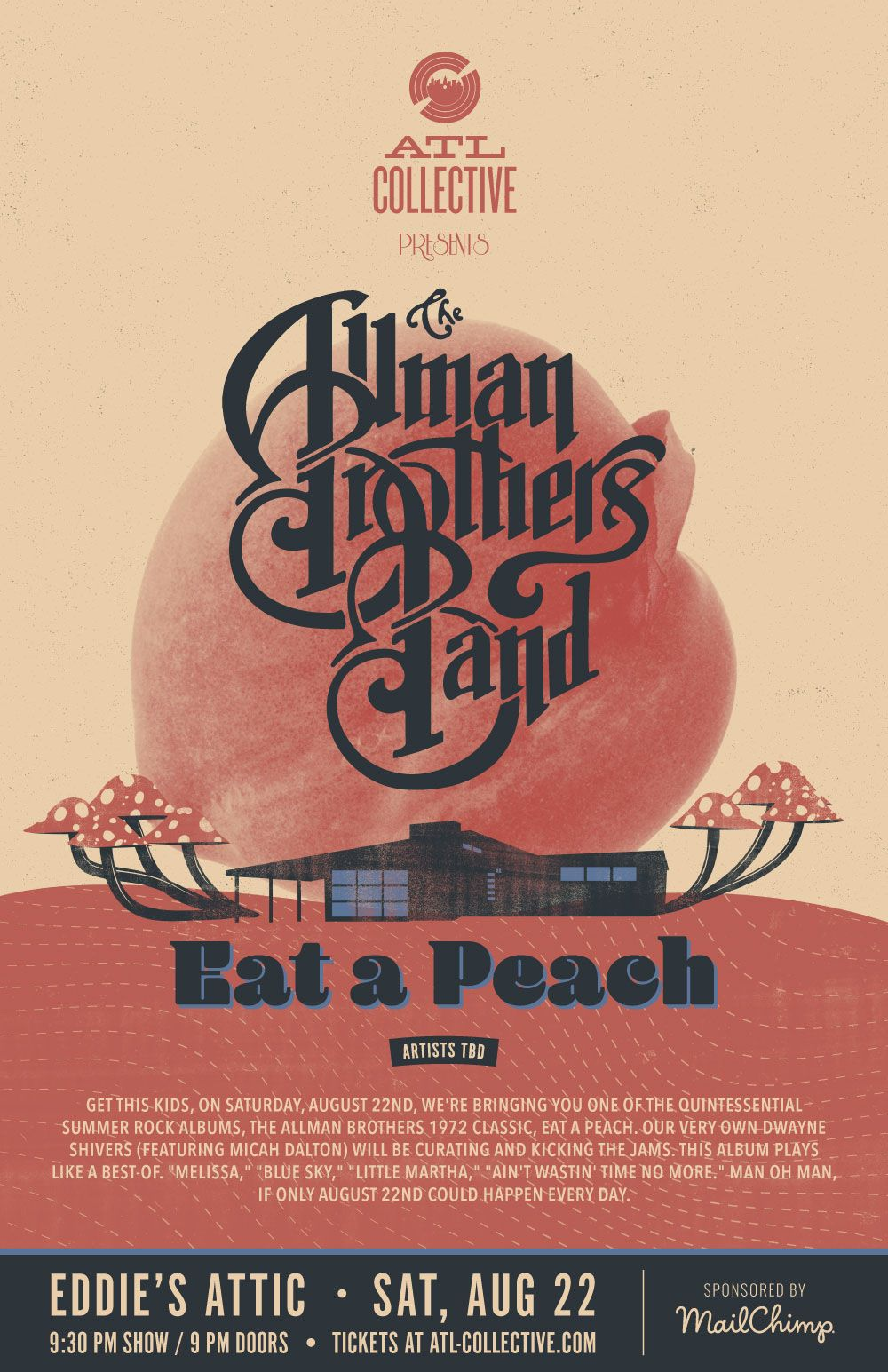 Allman Brothers Poster for ATL Collective on Behance | 3 Owl
