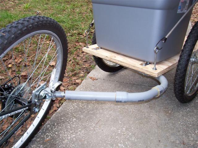 Diy Bicycle Trailer Hitch Coupling Bicycle Trailer Bicycle Bike Trailer