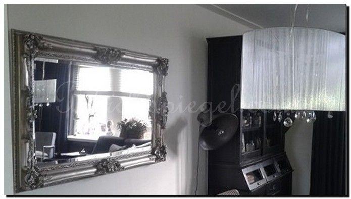 Grote Barok Spiegel : Grote barok spiegel zilver ornament zilveren spiegel