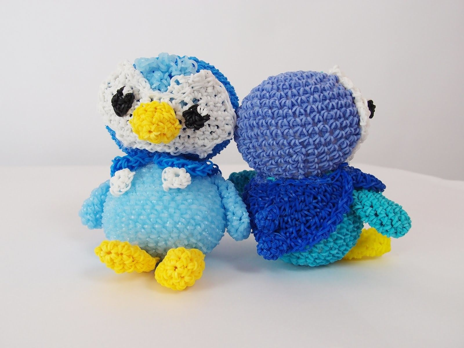 Piplup Pokemon Rainbow Loom Bands Amigurumi Loomigurumi ... - photo#25