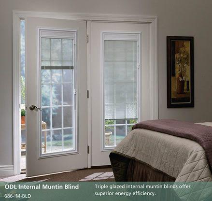 French Patio Doors With Blinds Between Glass Doorpro Entryways