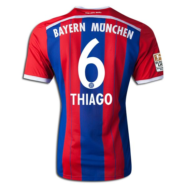 new concept 579ae 89740 Thiago Alcantara #6 Bayern Munich 15/16 Jersey | Thiago ...