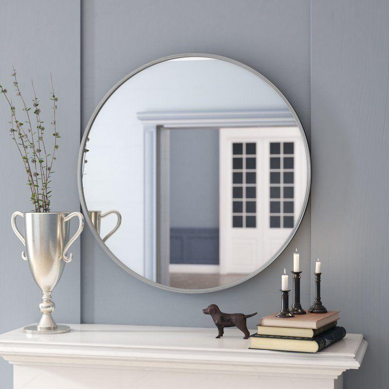 Chaz Accent Mirror Wall, Chaz Modern Contemporary Beveled Bathroom Vanity Mirror