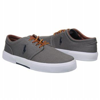 Mens Polo by Ralph Lauren Faxon Low Lace Up Grey Shoescom