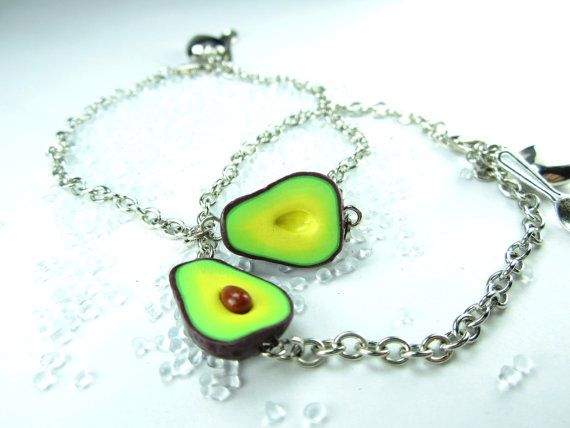 4d0ed82f2ed03 Friendship Bracelet, Avocado bracelet, best friend bracelet, vegan ...