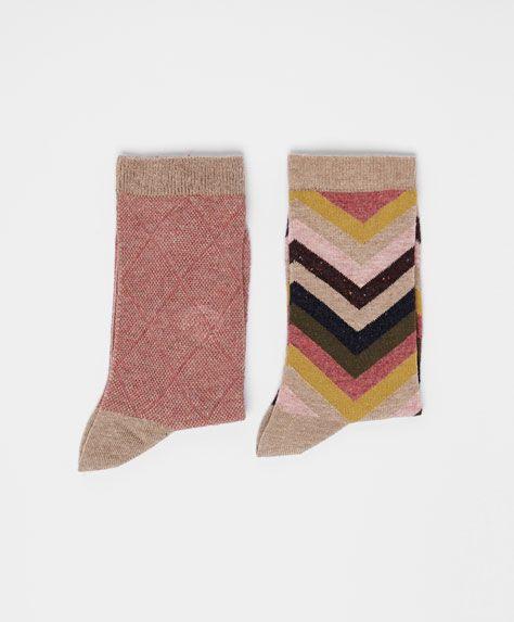 Diamond Pattern Socks #oysho #socks