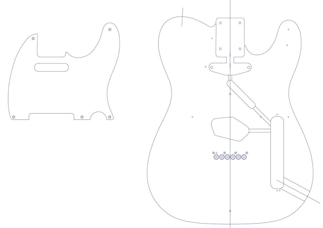 printable templates for the telecaster (custom, deluxe, thinline Telecaster Import Switch Wiring Diagram with An printable templates for the telecaster (custom, deluxe, thinline) routing guides for