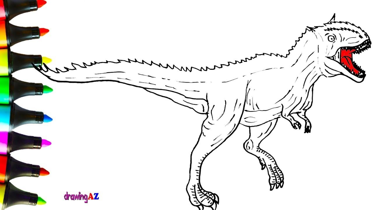 Carnotaurus Coloring Pages Collection Coloring Pages Print Buttons Coloring For Kids