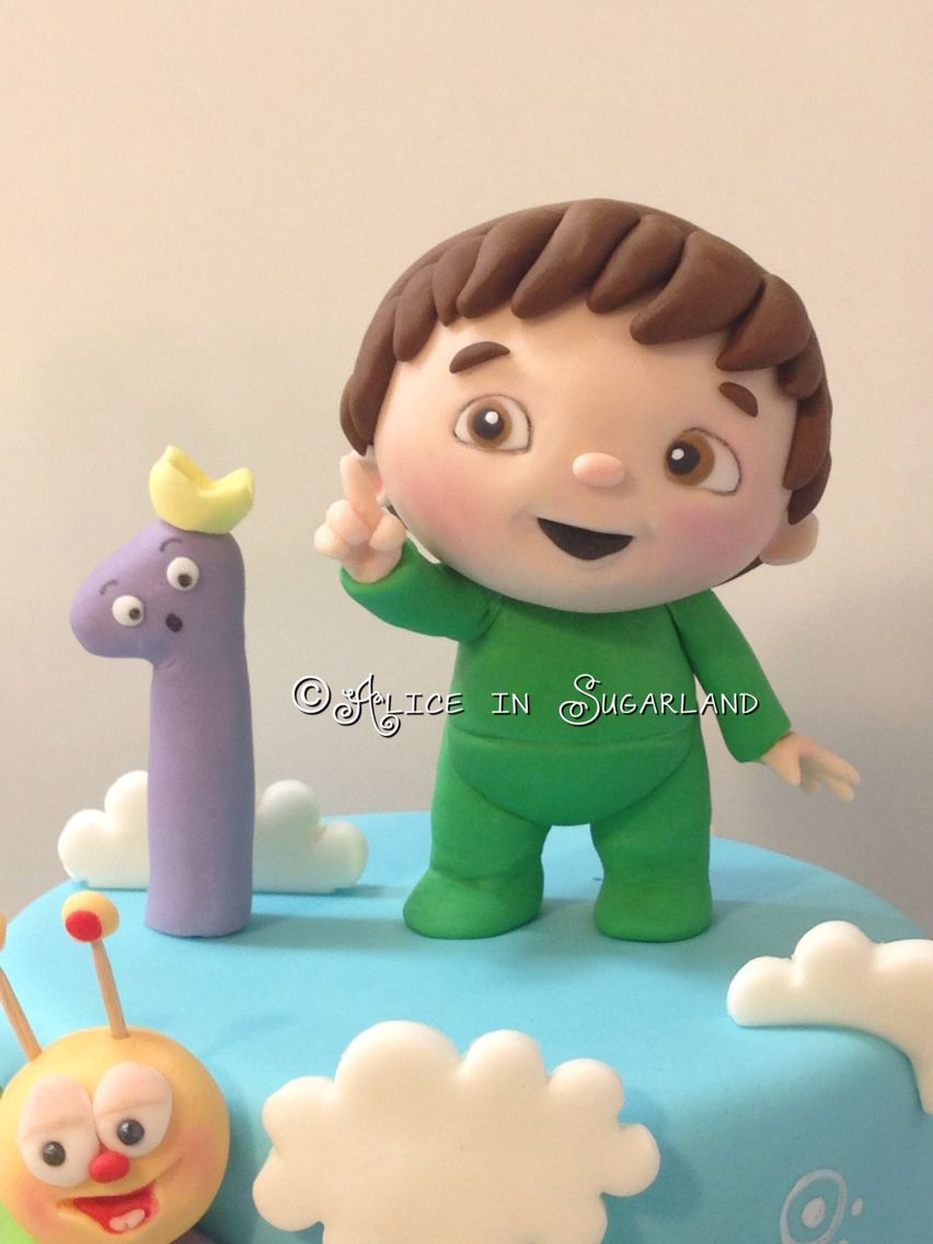 Charlie And The Numbers Cake Topper