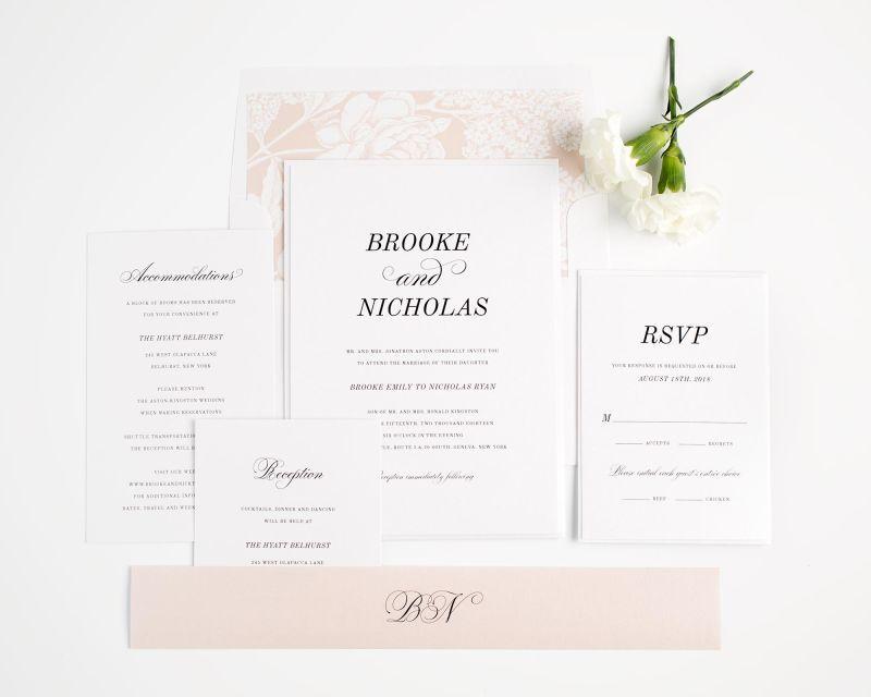 Classic Romance Wedding Invitations | Important | Pinterest | Belly ...