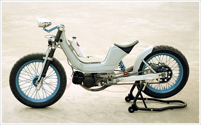 Derbi Variant Moped bonneville by Vintage Addiction Crew #motorcycles #caferacer #motos | caferacerpasion.com