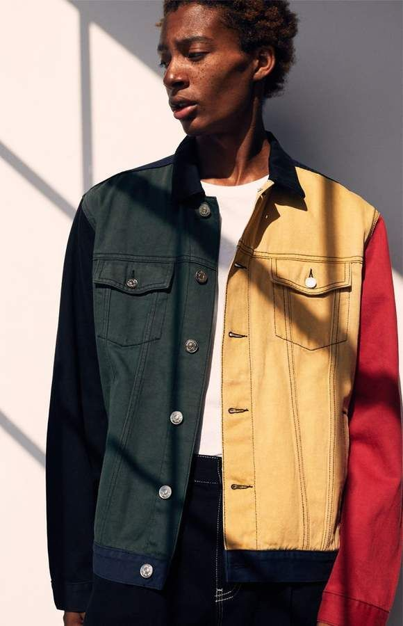 26e58200a3c PacSun '90s Colorblock Denim Jacket   Jackets/hoodie in 2019 ...