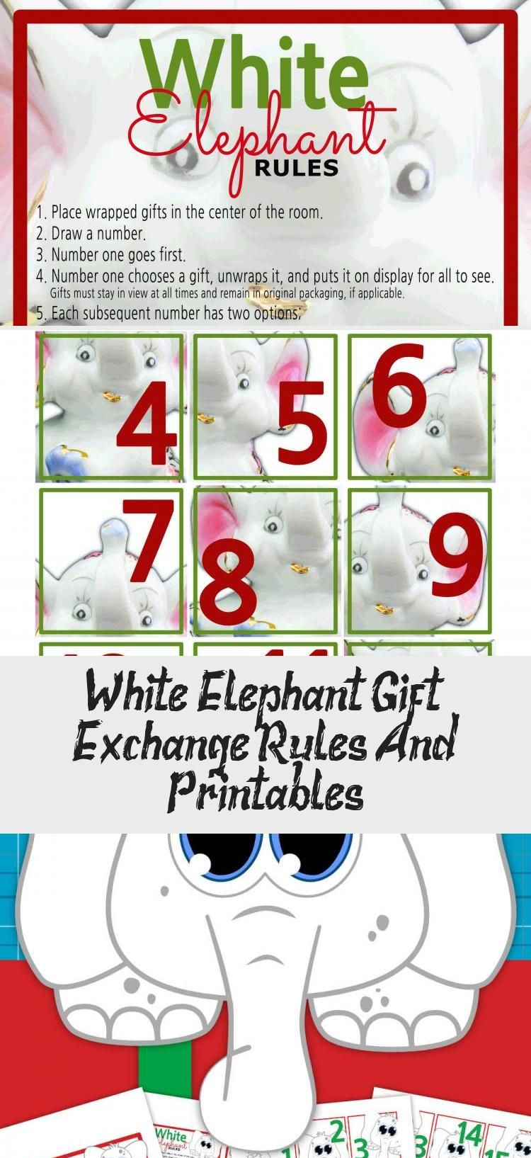 White Elephant Gift Exchange Rules And Printables Gifts