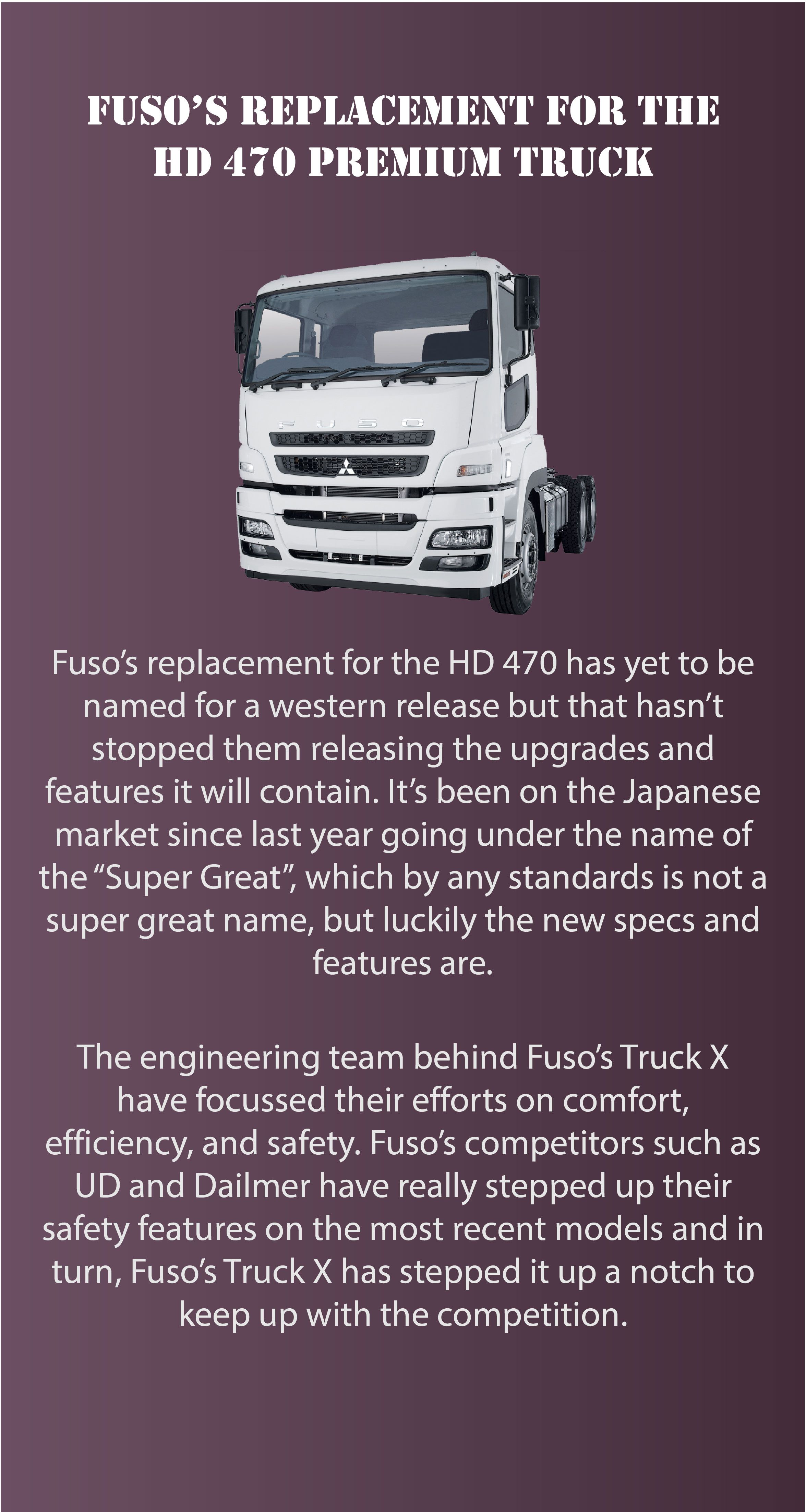 Fuso S Replacement For The Hd 470 Premium Truck Trucks