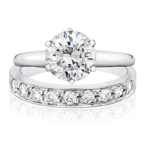 solitaire engagement rings with wedding bands for would be bride - Wedding Band And Engagement Ring