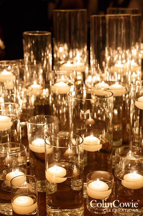 Wedding decorations floating candles candle holders