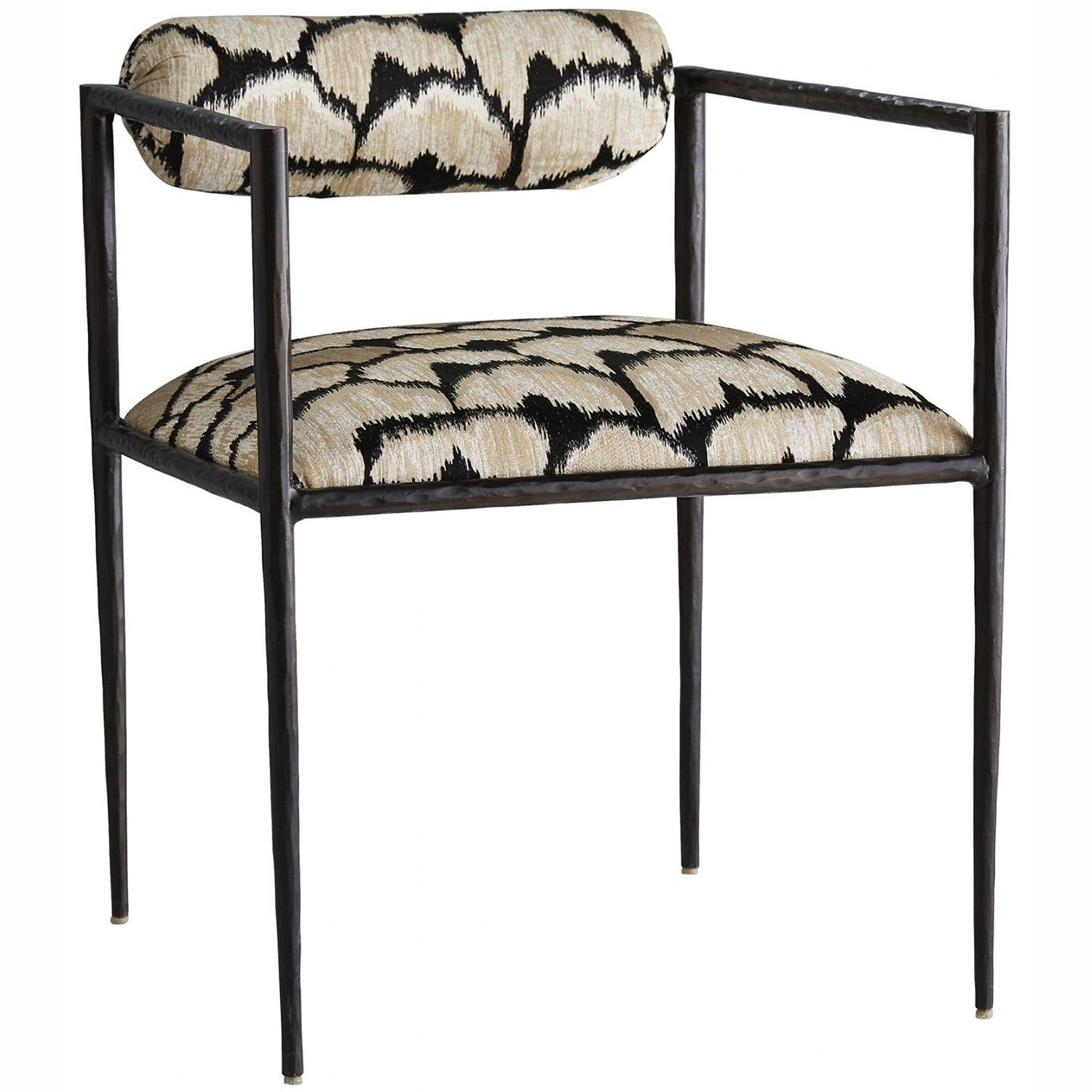 Arteriors Barbana Chair Ocelot Embroidery Furniture