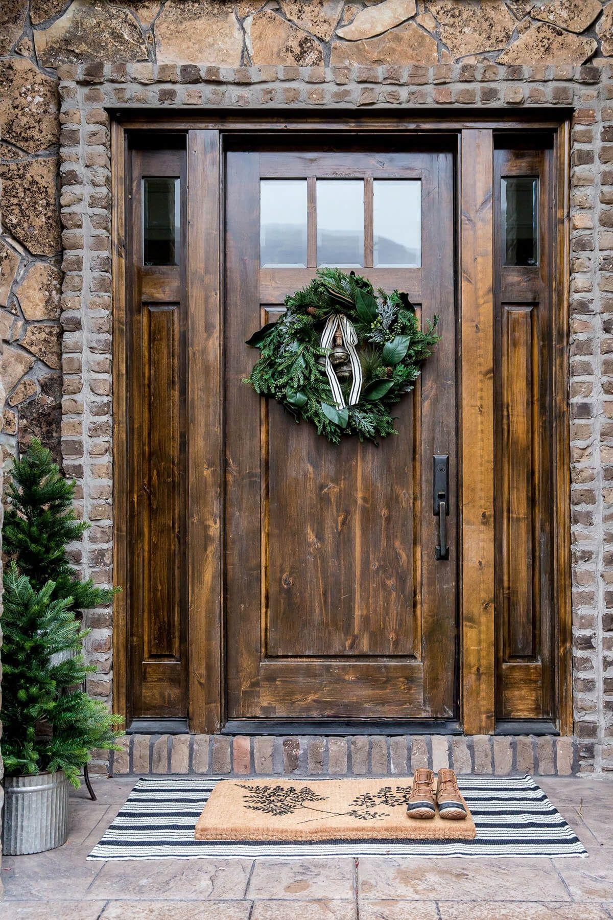 37 Gorgeous Farmhouse Front Door Ideas To Give Your Home A Makeover Beautiful Front Doors Rustic Front Door Rustic Doors