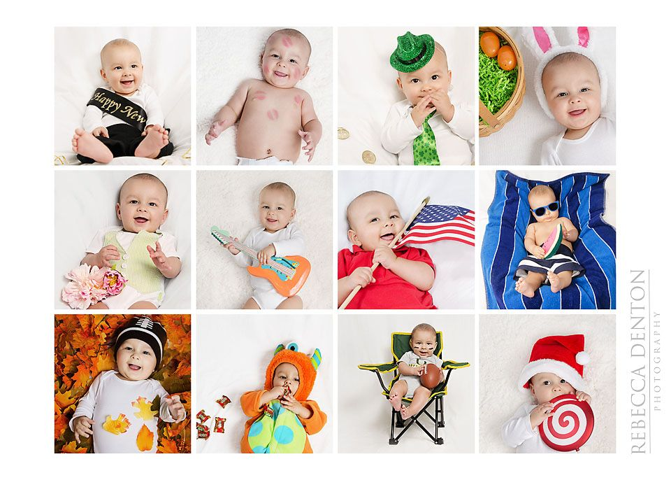 Baby Portrait Session 12 Month Calendar Baby Calendar Baby Milestones Pictures Monthly Baby Pictures