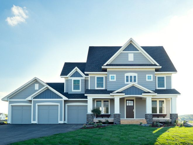 Great grey exterior color palette the lap siding shakes Gray clouds sherwin williams exterior