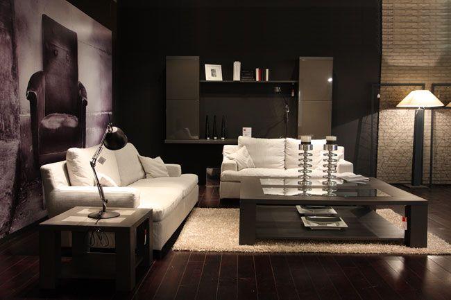 inrichting  woonkamer  zwart  wit  Salah meubels