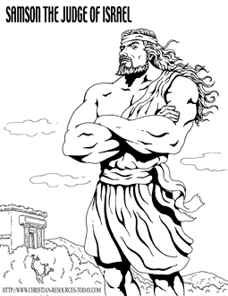 Some Excellent Coloring Pages Of Bible Heroes