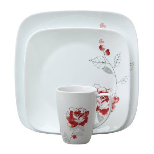 Loving these square plates... corelle blushing rose · Square PlatesDinnerware SetsChina ...  sc 1 st  Pinterest & Loving these square plates... corelle blushing rose | For the home ...