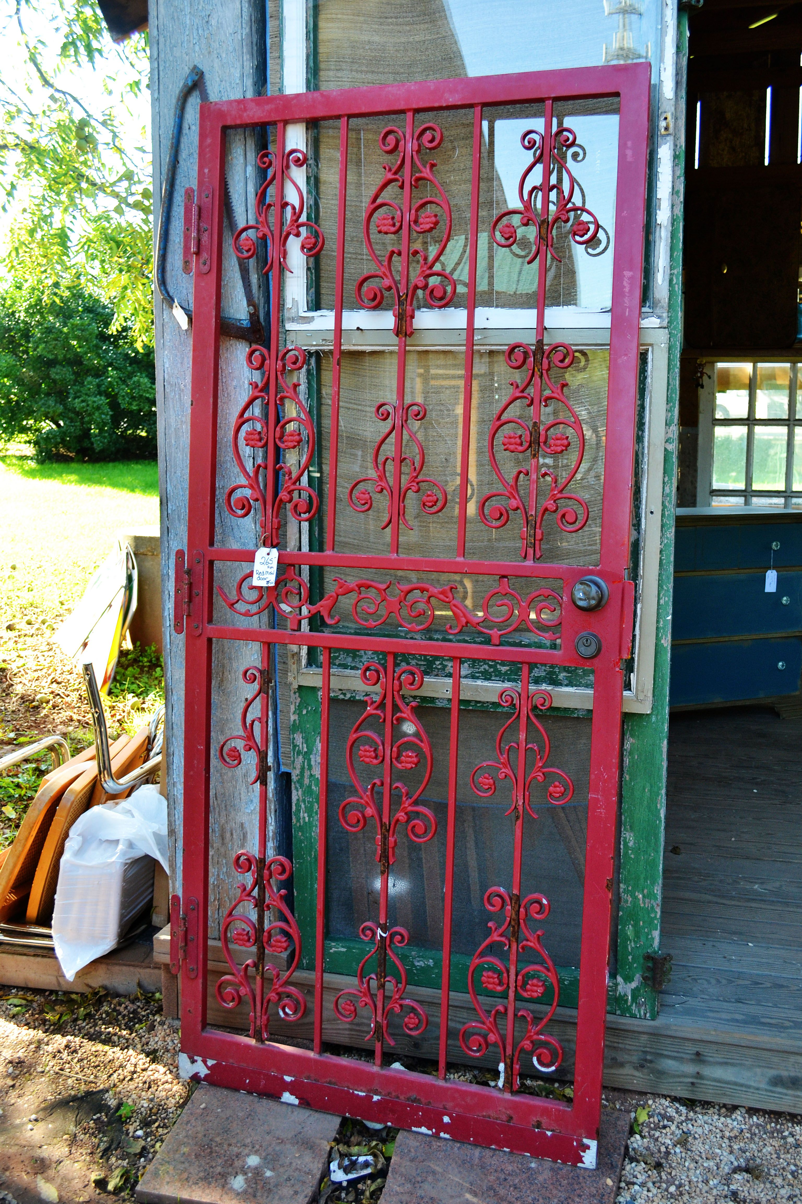 Red Metal Salvaged Door Look For A Size To Fit The Pantry