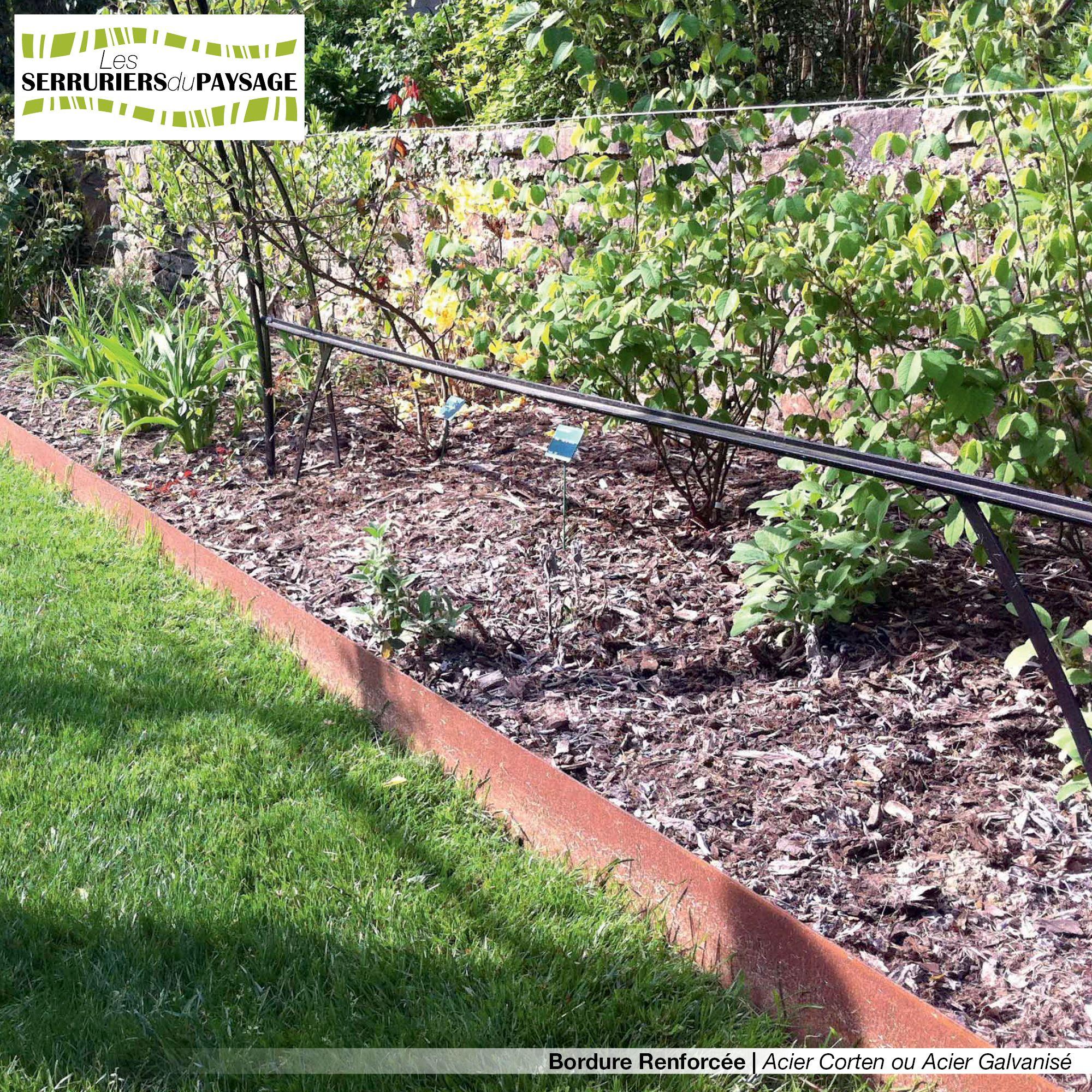 Bordure de jardin en tôle acier galvanisé ou tôle acier corten ...