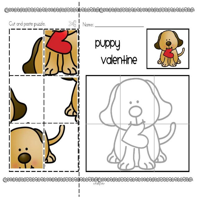 valentine 39 s day cut and paste puzzles 3 valentine 39 s day preschool. Black Bedroom Furniture Sets. Home Design Ideas