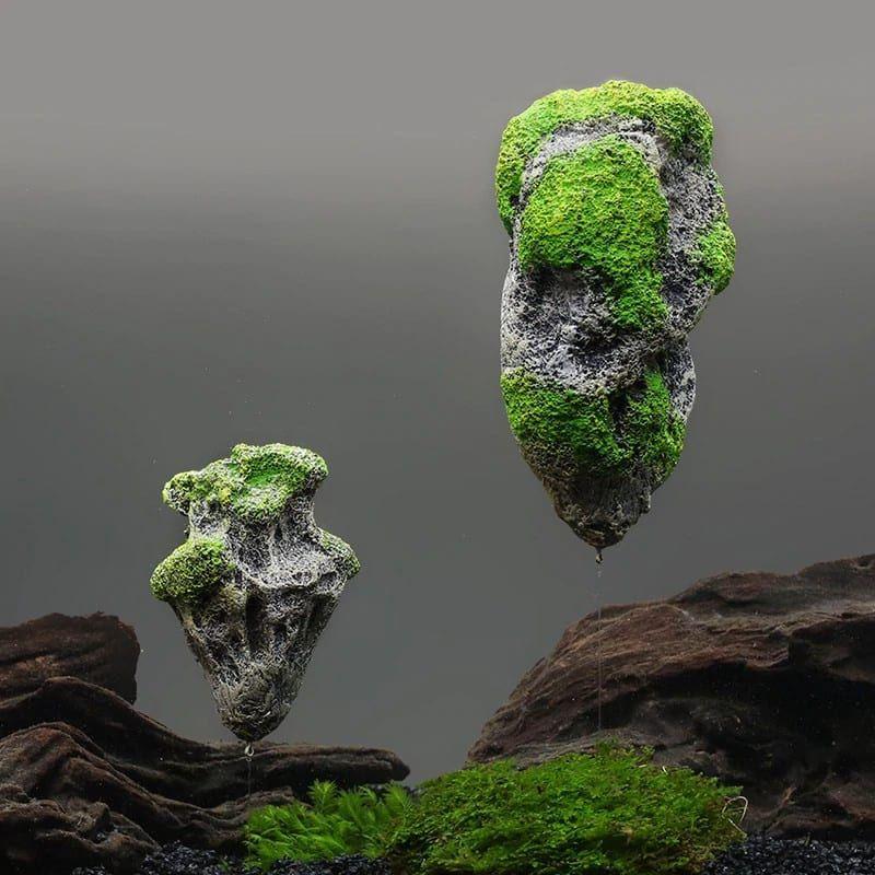 Floating Moss Rocks Aquarium Fish Tank Decorations Vingloo