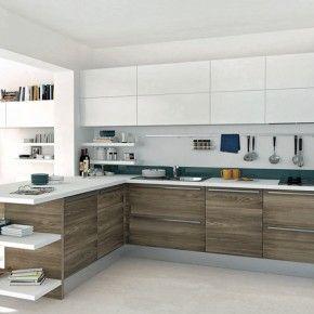 Modern White Wood Kitchen Cabinets grey white and wood kitchen | winda 7 furniture
