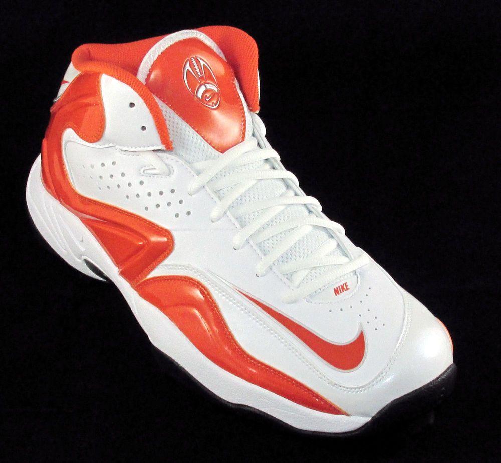 size 40 b24a4 1874d Nike Air Zoom Merciless Pro Shark 34 Turf Football Cleats Size 13  OrangeWhite Nike 34MoldedTurfFootballCleats