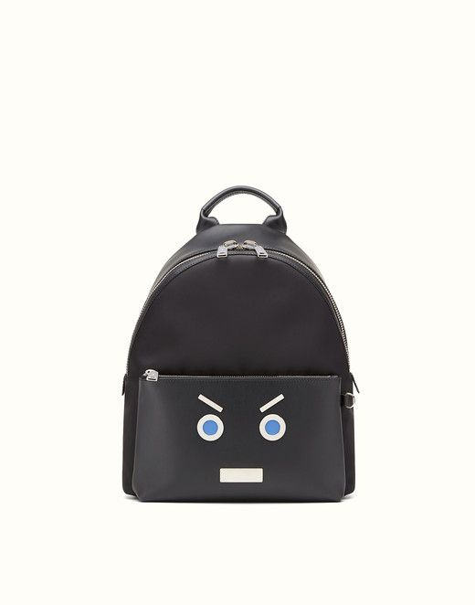 FENDI BACKPACK - in black nylon and leather - view 1 small thumbnail ... 528e835cd5a90