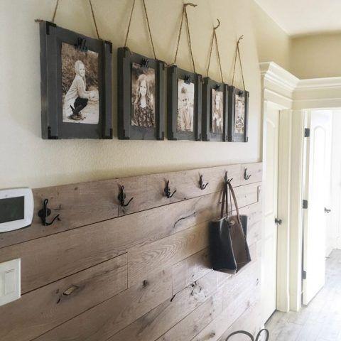 Plank Voor Lijstjes.Diy Hanging Frames And Youtube Video Hal Huis Ideeen