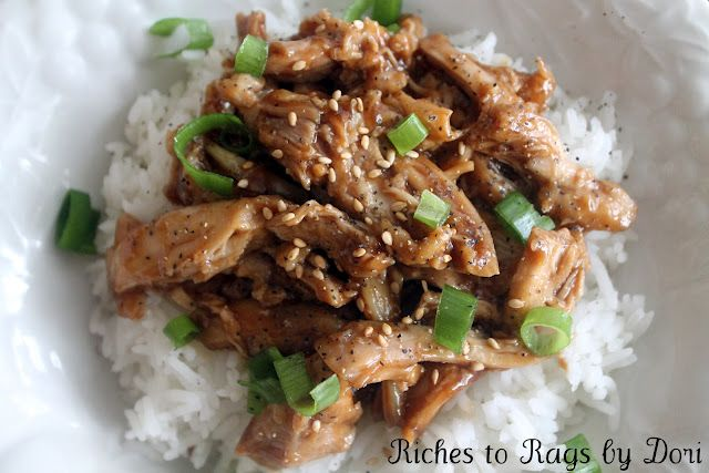 Delicious Crock Pot Teriyaki Chicken served over hot rice. New family favorite.