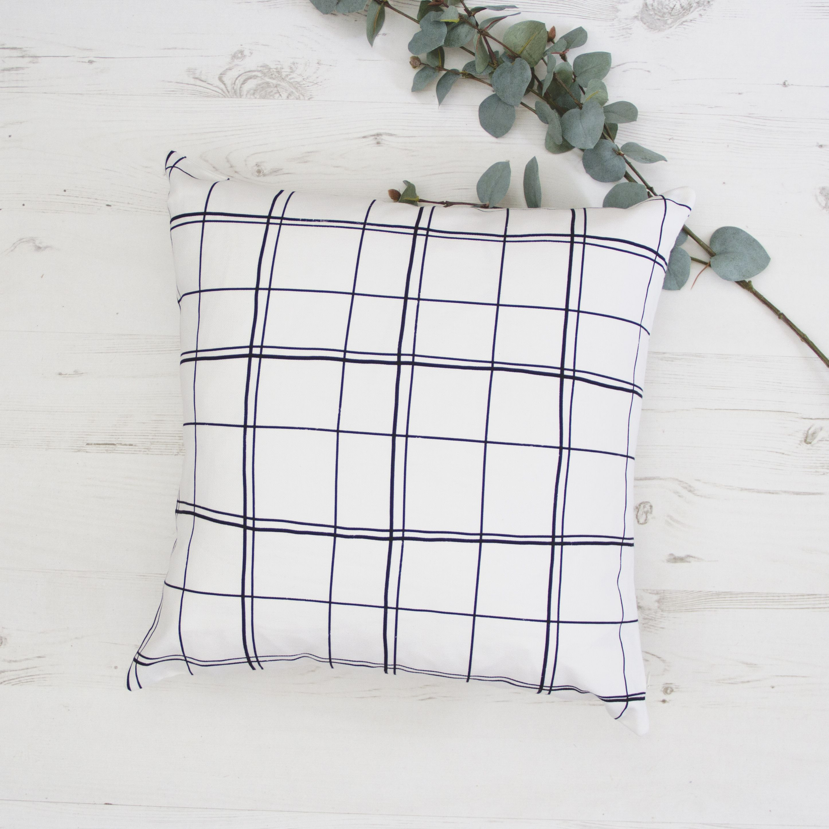 Grey & White Pillow, Minimalist