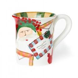 Old St Nick 2016 Limited Edition Mug Vietri Christmas China Handmade Dinnerware Mugs