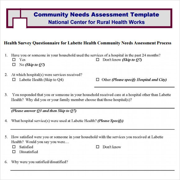 Community needs assessment template community pinterest community needs assessment template report template assessment sample resume business valuation maxwellsz