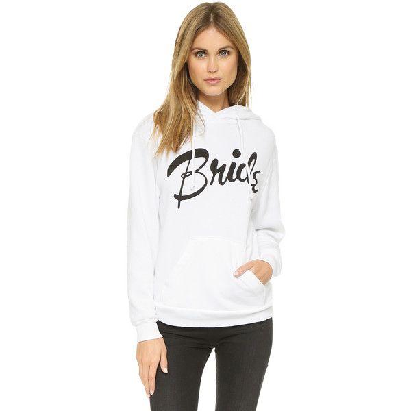 Wildfox Bride Hoodie ($115) ❤ liked on Polyvore featuring tops, hoodies, wedding white, wildfox hoodie, sweatshirts hoodies, bridal hoodie, oversized hoodie and oversized hoodies