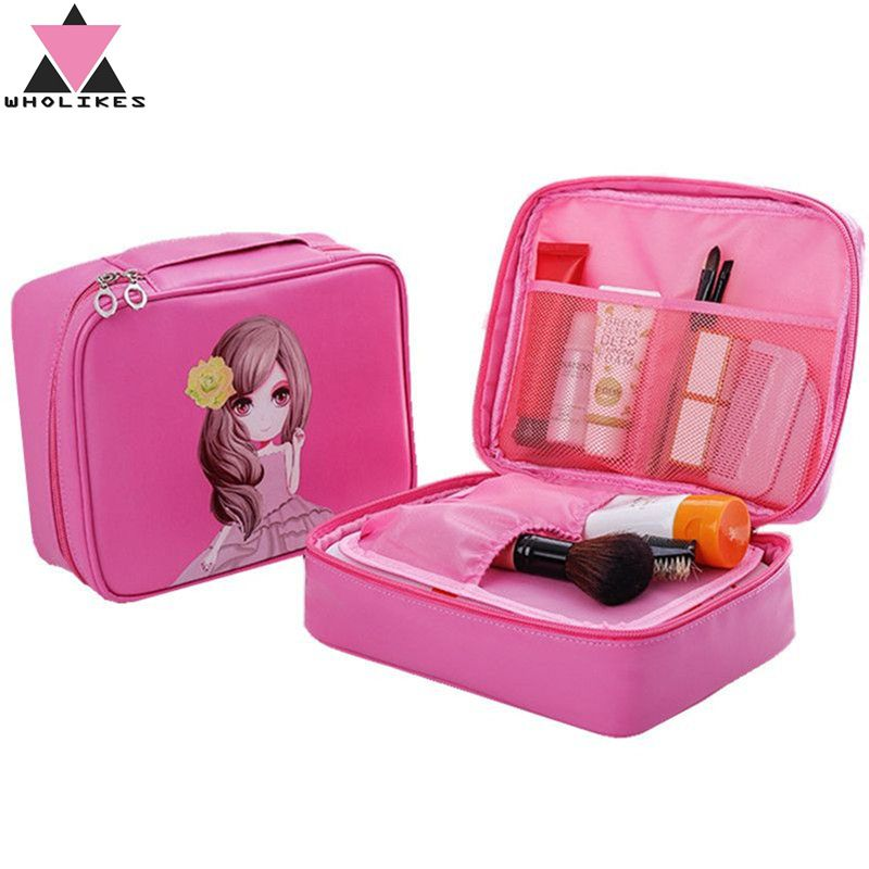 1f37a591f8ae Women Make Up Cosmetics Bag Beautician Professional Makeup Bag ...