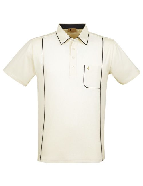 Oat polo shirt from the Gabicci Vintage collection  3a1f52866